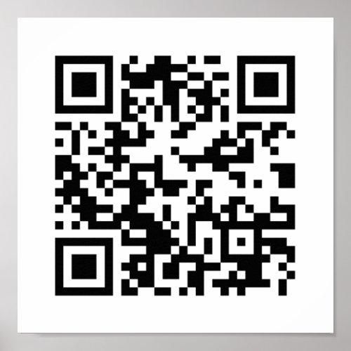 QR Code Quick Response Code _ Black White Poster