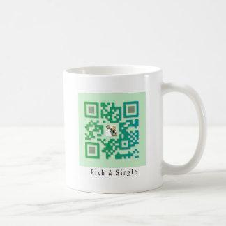 Qr Code Rich & Single Coffee Mug