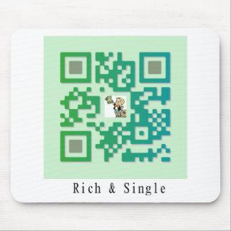 Qr Code Rich & Single Mouse Pad