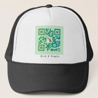 Qr Code Rich & Single Trucker Hat