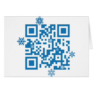 "QR Code Scans ""Merry Christmas!"" Card"