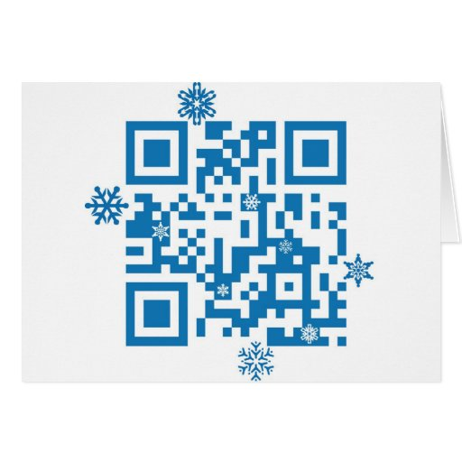 """QR Code Scans """"Merry Christmas!"""" Greeting Cards"""