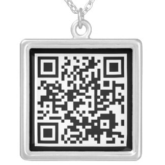 QR code Silver Plated Necklace