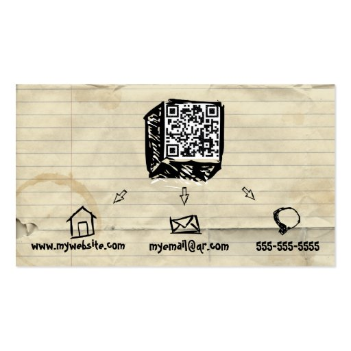 QR Code Sketchy Business Card