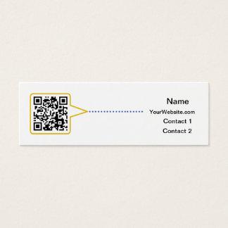 QR Code Skinny Business Card