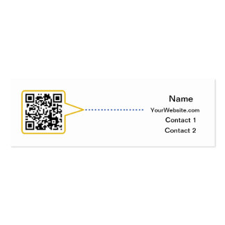 QR Code Skinny Business Card