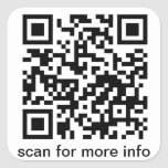 QR Code Small Square Stickers