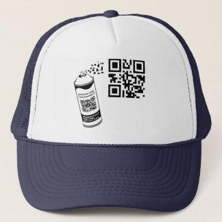 QR Code Spray Paint Hat Template