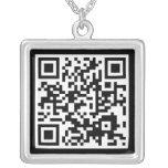 QR code Square Pendant Necklace