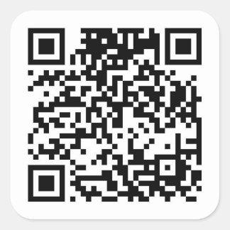 QR Code Square Sticker