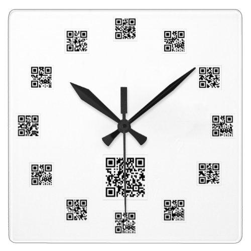 Qr Code Square Wall Clock
