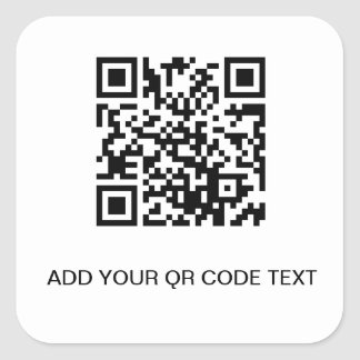 QR CODE STORE TEMPLATE SQUARE STICKER