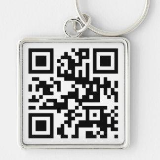 QR Code - Talk nerdy to me! Key Chain
