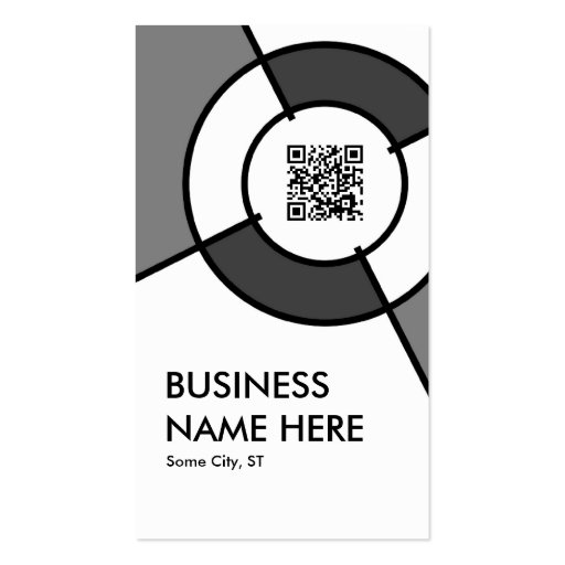 Qr code target business card zazzle for Target business cards