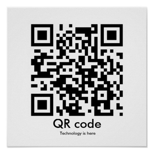 QR code Technology is here Poster