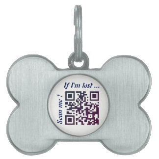 QR Code Template 2 Pet Name Tag