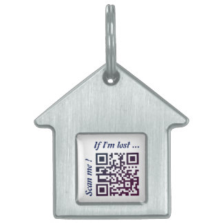 QR Code Template Pet ID Tag