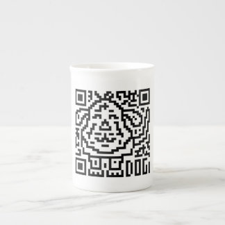 QR Code the Dog Bone China Mugs