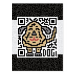 QR Code the Dog Post Cards