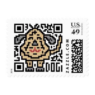 QR Code the Dog Stamp