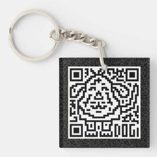 QR Code the Dog Single-Sided Square Acrylic Keychain