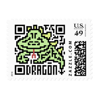 QR Code the Dragon Postage Stamp