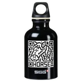 QR Code the Horse Aluminum Water Bottle
