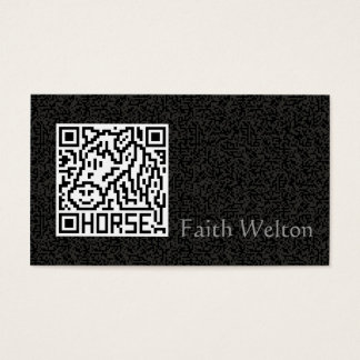 QR Code the Horse Business Card