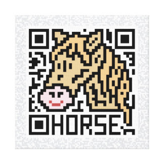 QR Code the Horse Stretched Canvas Print