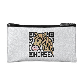 QR Code the Horse Cosmetic Bag