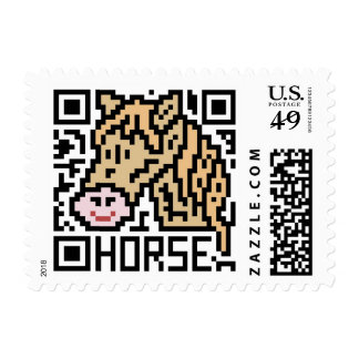 QR Code the Horse Postage Stamp