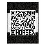 QR Code the Horse Postcards