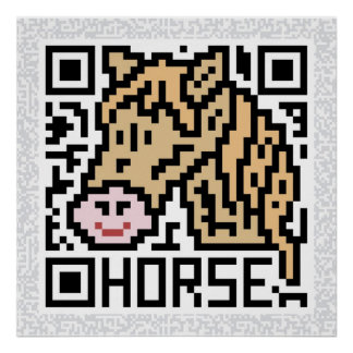 QR Code the Horse Poster