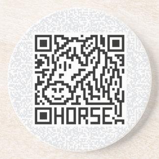 QR Code the Horse Sandstone Coaster