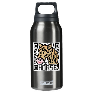 QR Code the Horse Thermos Bottle