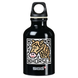 QR Code the Horse Water Bottle
