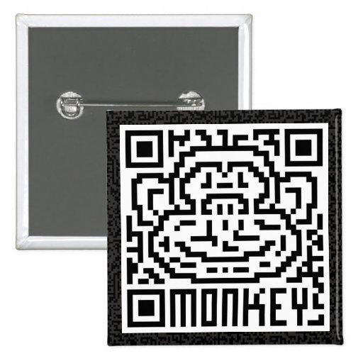 QR Code the Monkey Pinback Buttons