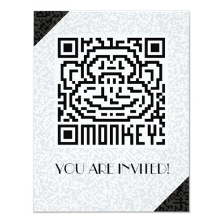 QR Code the Monkey Personalized Invitations