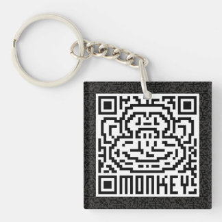 QR Code the Monkey Keychain
