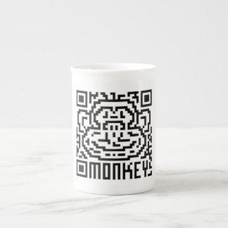 QR Code the Monkey Porcelain Mugs