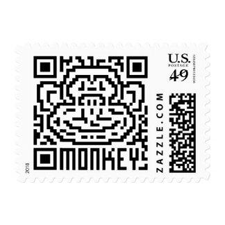 QR Code the Monkey Postage Stamp