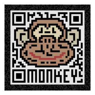QR Code the Monkey Poster
