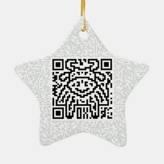 QR Code the Ox Ceramic Ornament