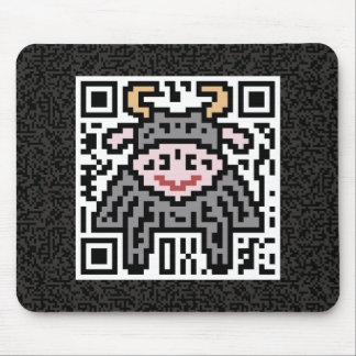 QR Code the Ox Mouse Pad