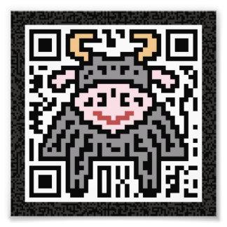 QR Code the Ox Photo Print