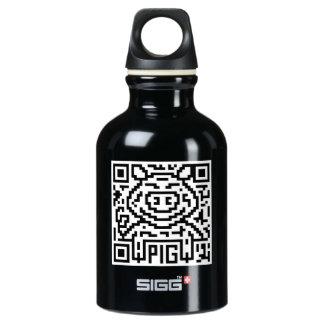 QR Code the Pig Aluminum Water Bottle