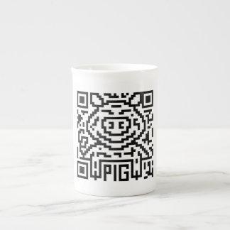 QR Code the Pig Bone China Mug