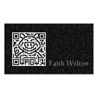 QR Code the Pig Double-Sided Standard Business Cards (Pack Of 100)