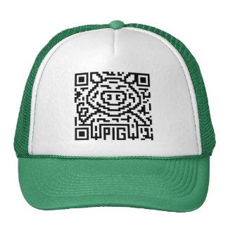 QR Code the Pig Trucker Hats