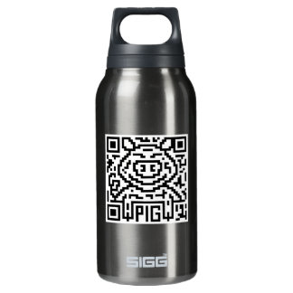 QR Code the Pig Insulated Water Bottle